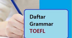 Daftar grammar toefl