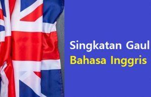 Singkatan Gaul Bahasa Inggris