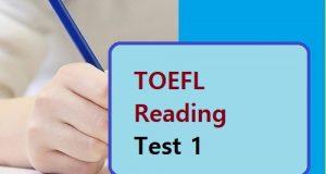 TOEFL Reading Test 1