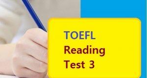 TOEFL Reading Test 3
