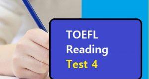 TOEFL Reading Test 4