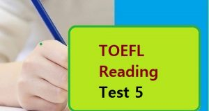TOEFL Reading Test 5
