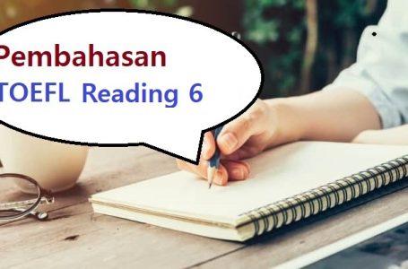 Pembahasan Soal Reading TOEFL #6