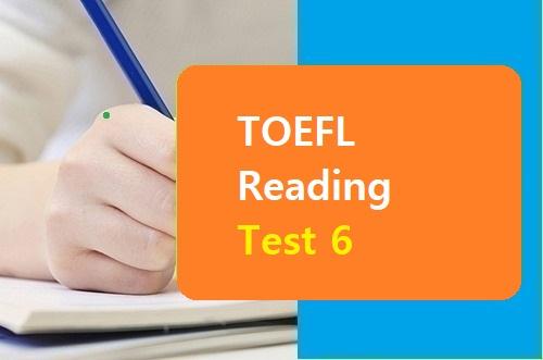 TOEFL Reading Test 6